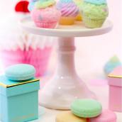 Cakestand céramique rose