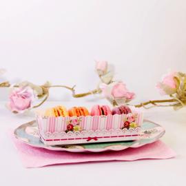 Mini moules gâteaux, étiquettes et ruban pâtisserie jolie - Lot de 12