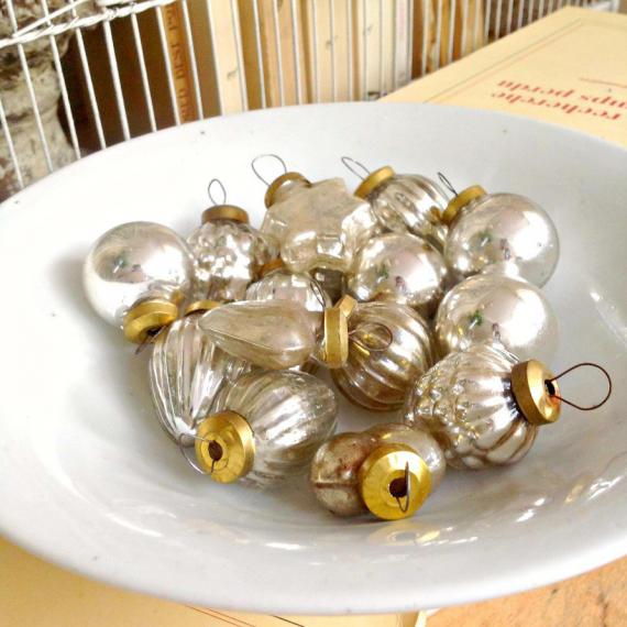 Décorations noël vintage mercurisées - Lot de 6