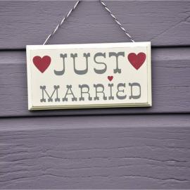 Pancarte rétro Just Married