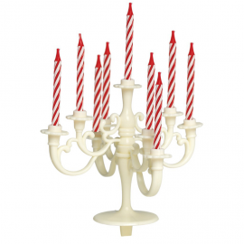 Bougie anniversaire chandelier ivoire