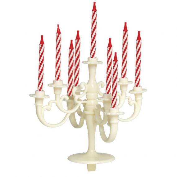 decoration g teau bougie anniversaire chandelier ivoire. Black Bedroom Furniture Sets. Home Design Ideas