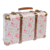 Valise vintage flower grey