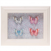 Cadre vitrine liberty papillons multi