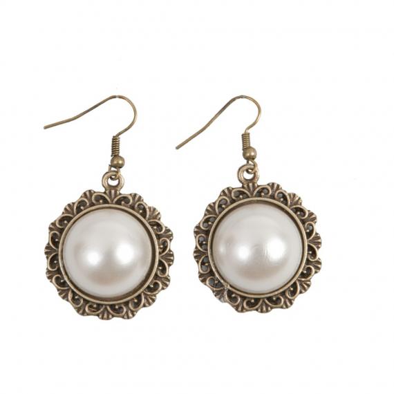 Boucles d'oreilles dormeuses perles