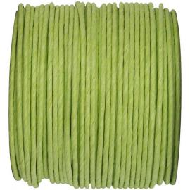 Cordelette papier laitonné vert tendre - Bobine 20 mètres