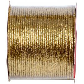 Cordelette papier laitonné or - Bobine 20 m.