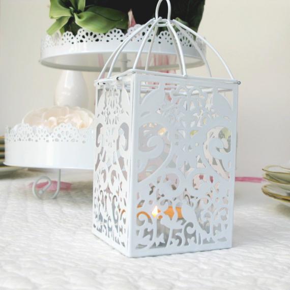 deco table bapteme photophore lanterne blanche. Black Bedroom Furniture Sets. Home Design Ideas