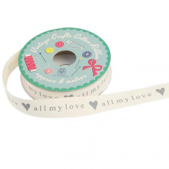 Ruban coton All my love