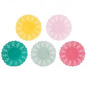 Mini napperons farandole couleur - Lot de 100