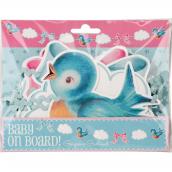 Guirlande baby shower birdy pastel