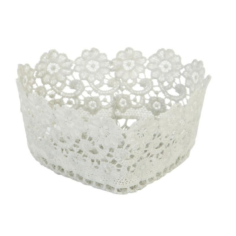 Decoration De Table Panier Crochet Dentelle Coeur Nuage