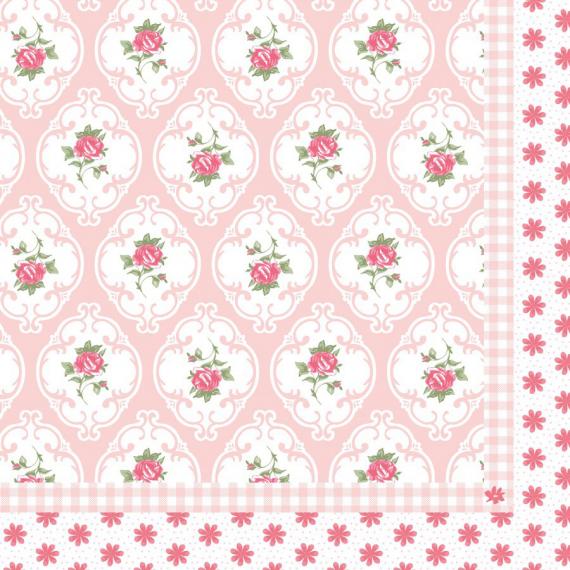 Serviettes papier médaillon romantique