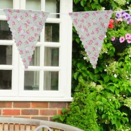 Guirlande fanions tissu lovely fleurettes