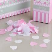 Confettis coeur biodégradable lovely fleurettes