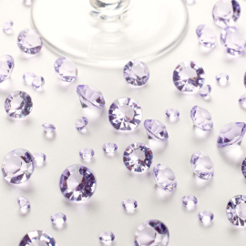 Diamants cristal assortis Lilas - Lot de 100 gr
