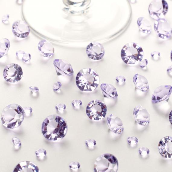 Diamants cristal assortis Lilas - Lot de 100 gr