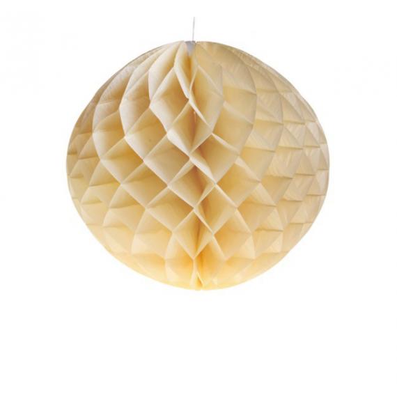 Decoration de salle lanterne papier unie ivoire for Boule de papier deco
