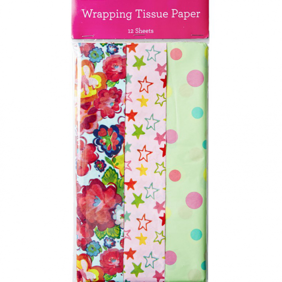 Papier de soie happy color - 12 feuilles