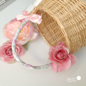 Ruban masking tape tissu liberty rose - 5 mètres