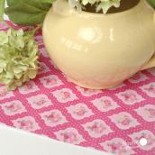 Feuille sticker tissu liberty floral pink - format A5