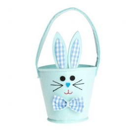 Panier lapin bleu de Pâques