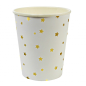 Gobelets étoiles dorées