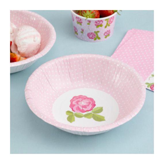 Coupelles dots & roses - Lot de 8