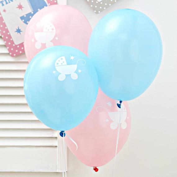Ballons mix pastel Baby - Lot de 8