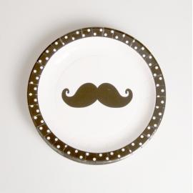 Assiettes funny moustaches
