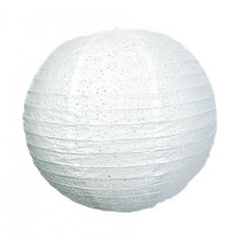 Lanterne papier dentelle blanche