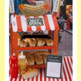 Stand rétro popcorn & hot dog