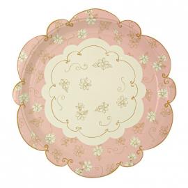 Assiettes pink romance