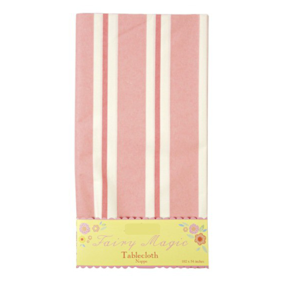 Nappe papier Fairy rayures roses