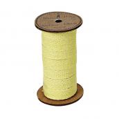 Bobine ruban corde coton jaune