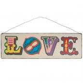 Pancarte vintage métal love color