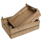Caisses bois rétro store - Lot de 2