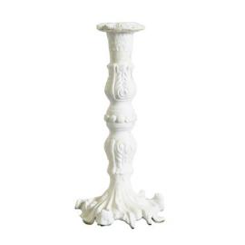 Bougeoir boudoir rocaille patine blanc