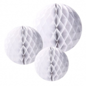 Assortiment boules papier blanc - Lot de 3