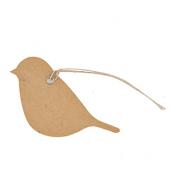 Etiquettes oiseaux vintage flower - Lot de 15