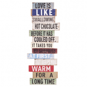 Pancarte planches messages vintage