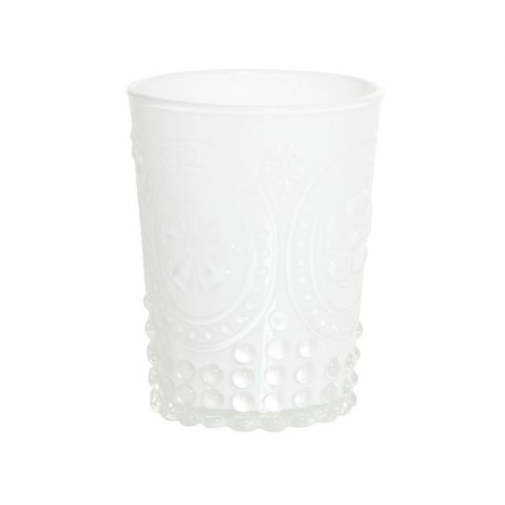 Vase verre opaline white