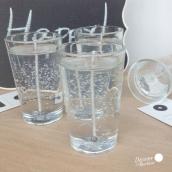 Bougies verrines transparentes - Lot de 6
