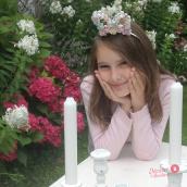 Bandeau Bunny roses pastel