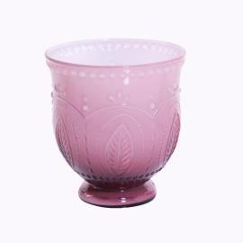 Vase verre tulipe opaline violet