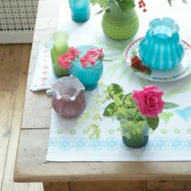 Vase verre corolle opaline violet