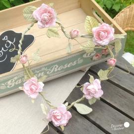 Plateau bois vintage garden roses