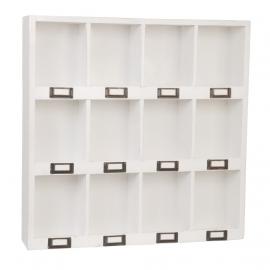 Etagère casier vintage white