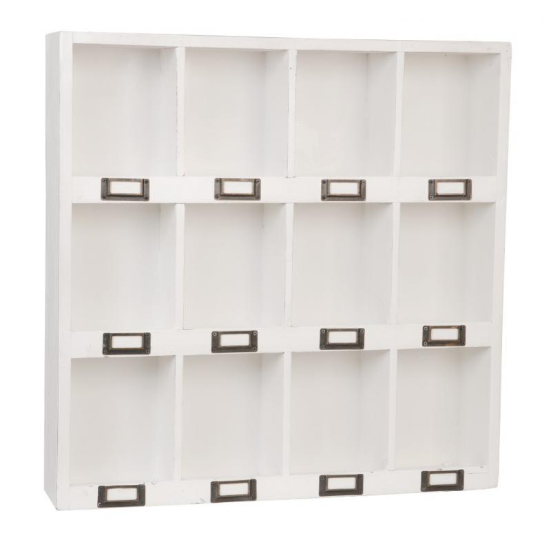 decoration de salle etag re casier vintage white. Black Bedroom Furniture Sets. Home Design Ideas