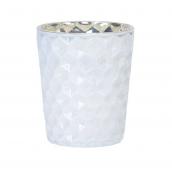 Photophore verre shinny white